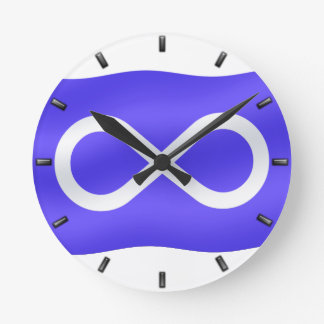 Metis Flag Clock First Nation Flag Wall Clock