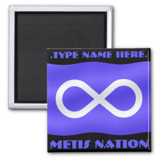 Metis Flag Fridge Magnet Personalized Metis Magnet