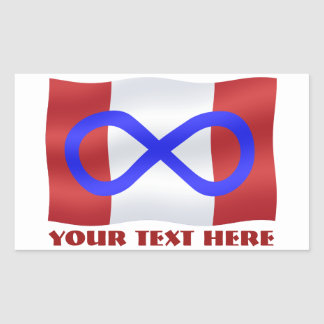 Metis Flag Stickers Personalized Metis Canada Gift