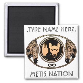 Metis Fridge Magnet Personalized Metis Flag Magnet