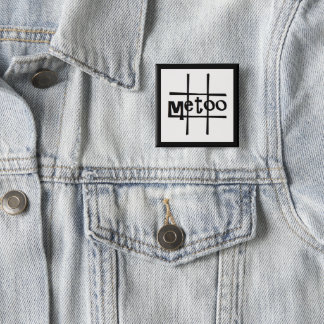 #metoo badge by DAL 2 Inch Square Button