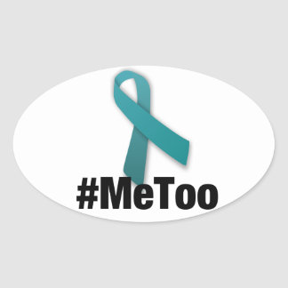 #MeToo Design with Ribbon Oval Sticker
