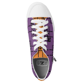 #metoo Sneakers in purple 'n orange by DAL