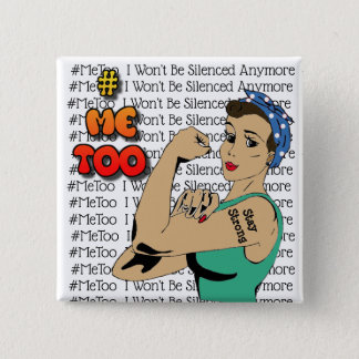 #MeToo Warrior Woman Button