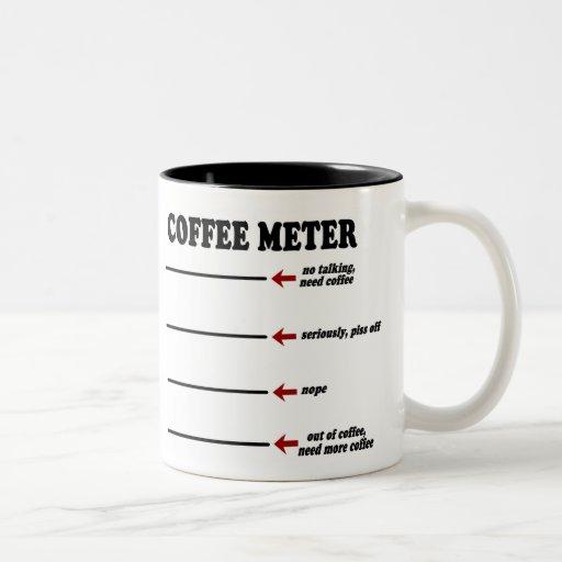 Mètre de café tasses