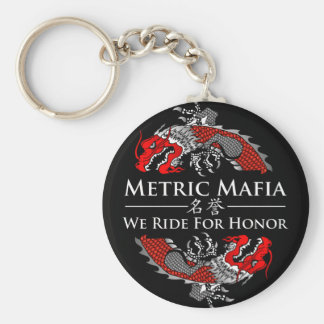 Metric Mafia - We Ride For Honor keychain