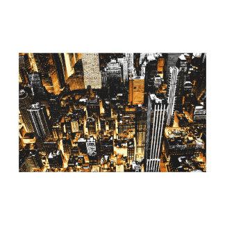 Metro city canvas print