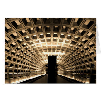Metro Station Notecard