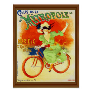 Metropole Vintage French Bicycle Poster