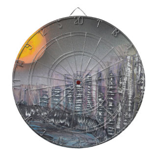 Metropolis at night dartboard