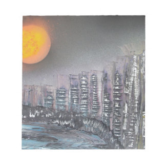 Metropolis at night notepad