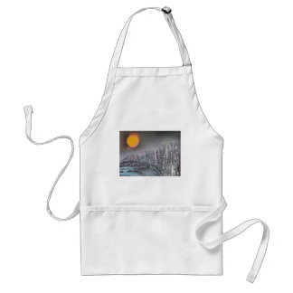 Metropolis at night standard apron