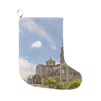 Metropolitan Cathedral Fortaleza Brazil Large Christmas Stocking