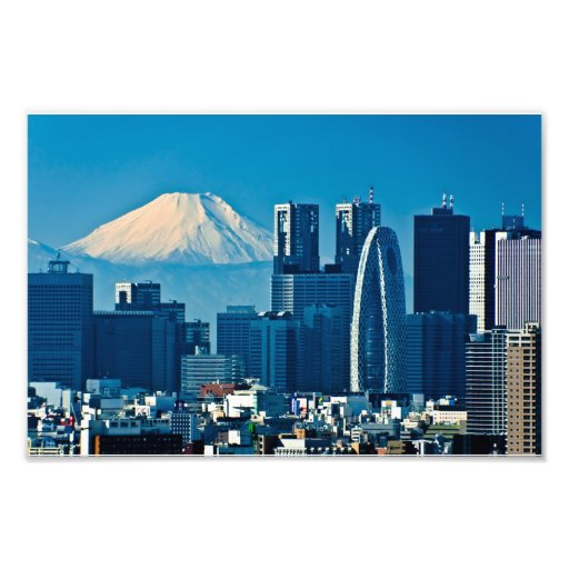 Metropolitan Government Office and Mt. Fuji Photographic Print