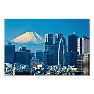 Metropolitan Government Office and Mt. Fuji Photograph