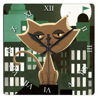 Metropolitan rooftop alley cat clocks