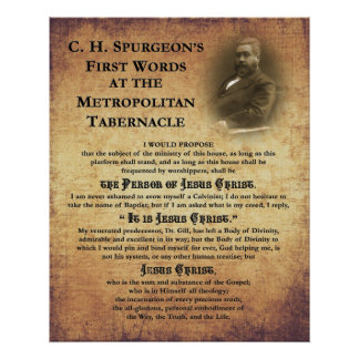 Metropolitan Tabernacle First Words Print