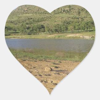 Meulspruit Dam 1 Heart Sticker