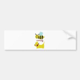 meup scotty. d'abeille autocollant de voiture