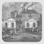 Meux's Brewery, 1830 Square Sticker