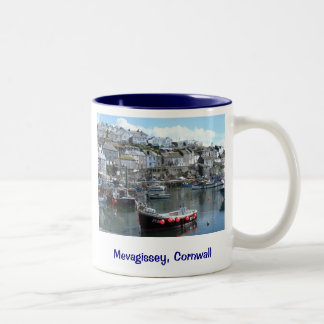 Mevagissey, Cornwall, England Two-Tone Coffee Mug