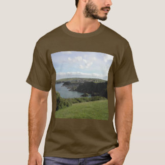 Mevagissey. Cornwall. Scenic coastal view. T-Shirt