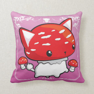 Mewshroom Pillow pink cute cat mushroom