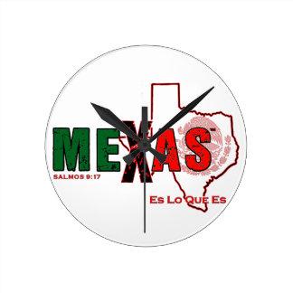 MEXAS ROUND CLOCK