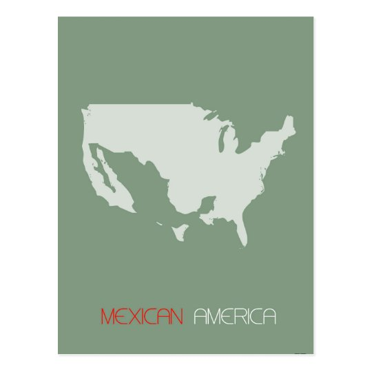 Mexican America Postcard