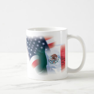 Mexican American Coffee Mug with Eagle