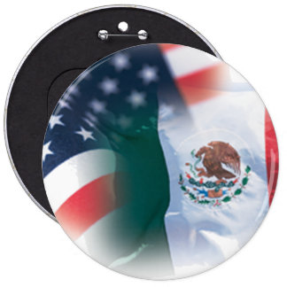 Mexican American Colossal 6 Inch Round Button