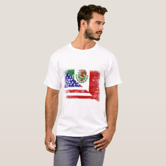 Mexican American Flag mix T-Shirt