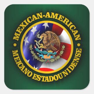 Mexican American Pride Square Sticker
