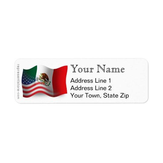 Mexican-American Waving Flag