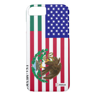 Mexican and USA flag phone cover