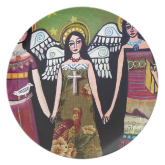 Mexican Angels by Heather Galler Dinner Plate