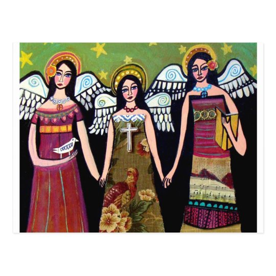 Mexican Angels by Heather Galler Postcard