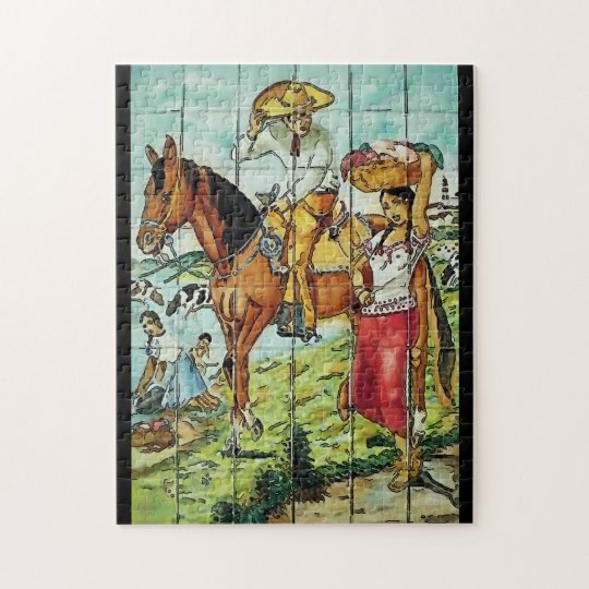 Mexican Art Decco Jigsaw Puzzle