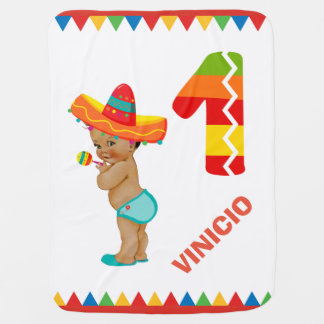 Mexican Baby Boy's First Birthday Blanket