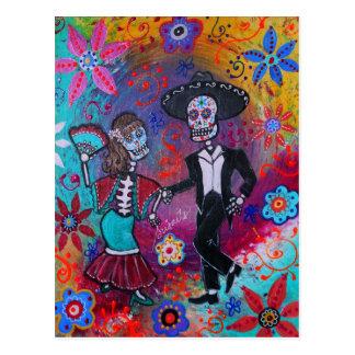 Mexican Bailar Mariachi Dancing Couple by prisarts Postcard