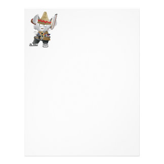 Mexican Bandit Bunny Customized Letterhead