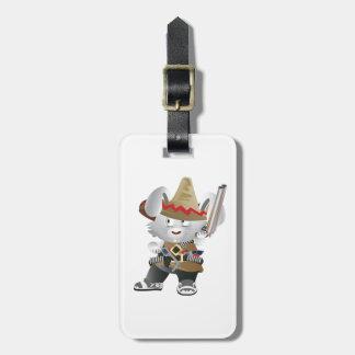 Mexican Bandit Bunny Luggage Tag