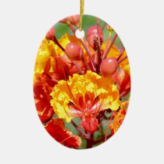 Mexican Bird of Paradise Ceramic Ornament