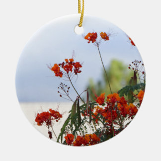 Mexican Bird of Paradise Round Ceramic Ornament