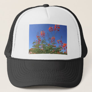 Mexican bird of paradise trucker hat