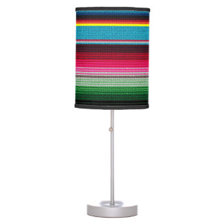 Mexican Blanket Rainbow Stripes Table Lamp