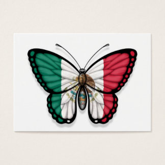 Mexican Butterfly Flag Business Card