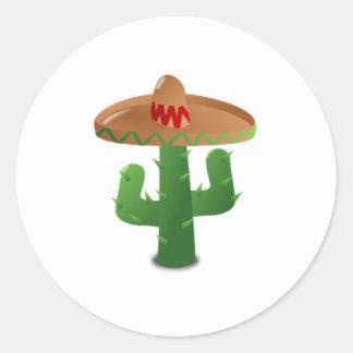 Mexican Cactus Round Sticker