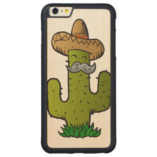 mexican cactus with mustache carved® maple iPhone 6 plus bumper case
