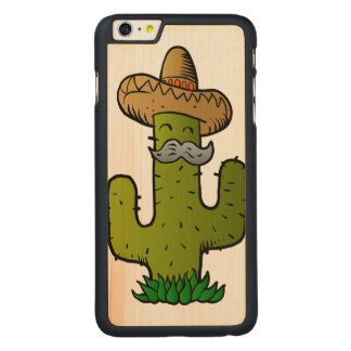 mexican cactus with mustache carved® maple iPhone 6 plus case